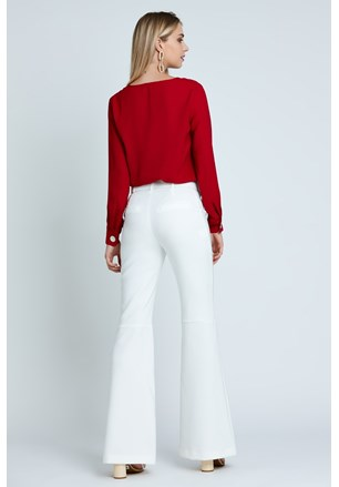 CALÇA FLARE TWO WAY COM CINTO
