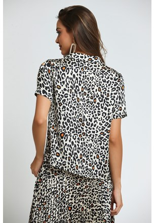 CAMISA MANGA CURTA ANIMAL PRINT